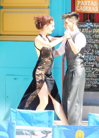 La Boca, démonstration de tango