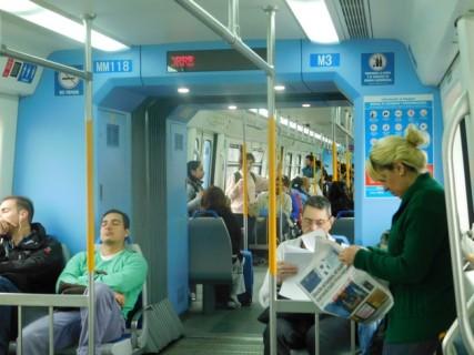 Buenos Aires, le RER...Pays de contraste, les rames sont neuves et luxueuses !