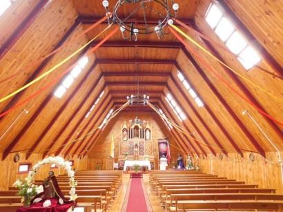 Curaco de Vélez, Intérieur de l'église