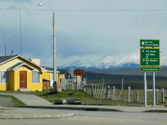 Excursion au Parc Torres del Paine, Cerro Castillo, le panneau routier est intéressant !
