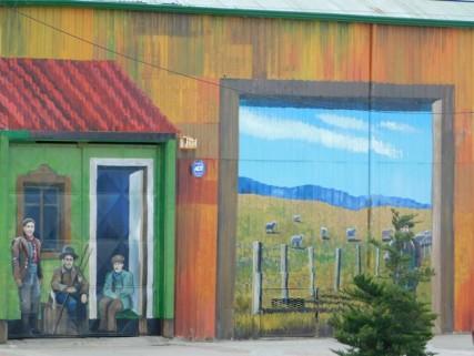 Punta Arenas, murs peints vers les quais