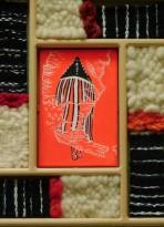 Punta Arenas, marché artisanal, tableau représentant les rites initiatiques du peuple premier de la Tierra de Fuego