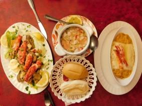 Punta Arenas, marché municipal, notre déjeuner !