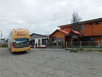 Bus Punta Arenas / Chiloé, arrêt avant la frontière argentine, dans un resto perdu...