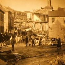 Musée régional d'Ancud, photo du tremblement de terre de 1960 (intensité 9.5, secousse de 5mn)