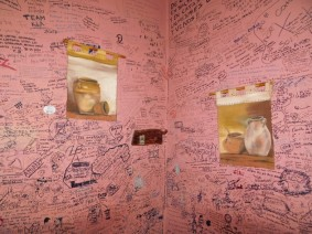 Cafayate, la Casa de Empanadas - Les murs de la boutique sont décorés de témoignages de clients !