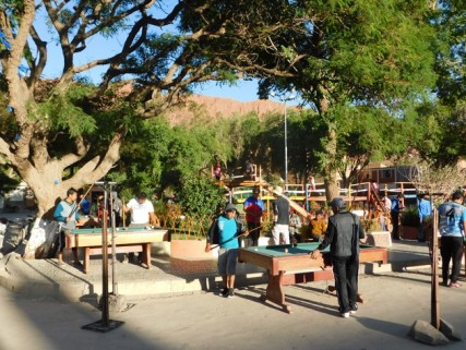 Tupiza, billards publics dans un parc