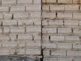 Salar d'Uyuni, hôtel / restaurant de sel, briques de sel taillées dans le salar