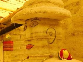 Salar d'Uyuni, hôtel / restaurant de sel, statue de sel