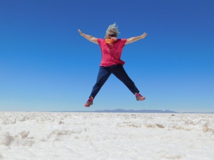 Salar d'Uyuni, on s'amuse bien !