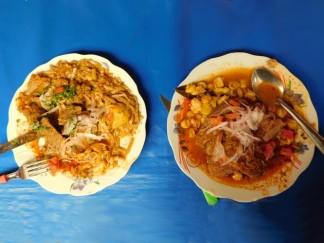 Tupiza, centre-ville, marché central, notre déjeuner !