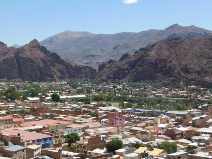 Tupiza, vue depuis le Corazon de Jesus