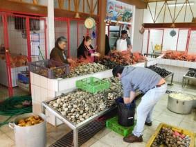 Ancud, marché aux poissons