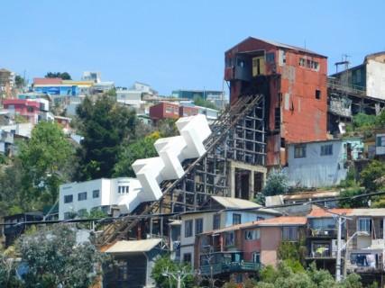 Valparaiso, vue depuis notre chambre