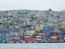 Valparaiso, le port vu depuis l'océan