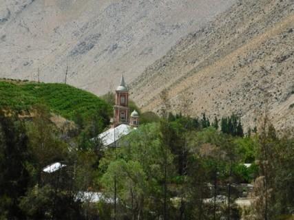 Vallée de l'Elqui, vue sur l'église de Monte Grande