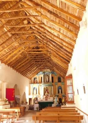 San Pedro de Atacama, la structure de l'église est faite de cactus !