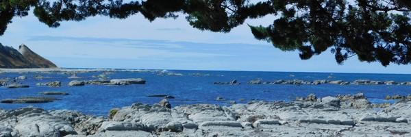 Le long de la côte est de l'ile du Sud, d'Akaroa àPicton