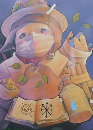 Santiago, mur peint