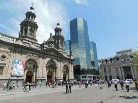 Santiago, Plaza de Armas, cathédrale