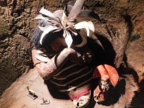 Santiago, Parque Quinta Normal, Musée d'Histoire Naturelle, réplica de la momie Inca trouvée au sommet d'un volcan