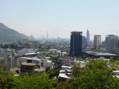 Santiago, vue du Cerro Santa Lucia
