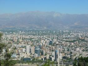 Santiago, vue depuis la télécabine qui rejoint le Cerro San Cristobal