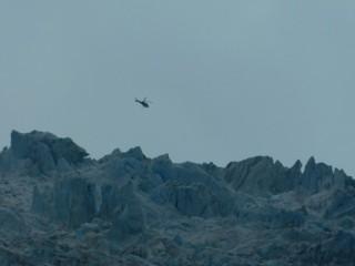 Franz Josef Glacier, ici les hélicos font un ballet incessant !