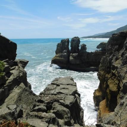 Sur la route, entre Westport et Greymouth - Les Pancakes Rocks de Punakaiki