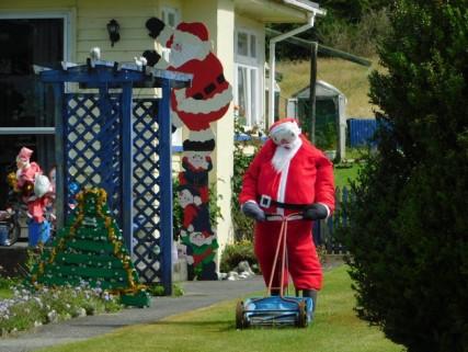 Route entre Hokitika et Franz Josef - Oui, c'est bientôt Noël !
