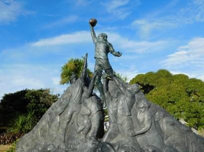Wellington, hommage aux rugbymen et aux pêcheurs