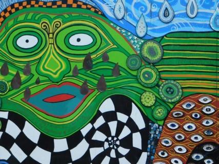 Kawakawa, frsque murale d'inspiration maorie