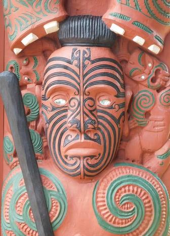 Waitangi Treaty Grounds, bateau de cérémonie, détail