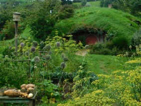 Hobbiton Movie Set, potager