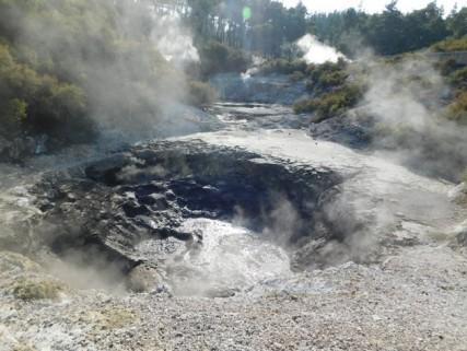Parc géothermal Wai-O-Tapu - Boucle rouge - Les encriers du diable