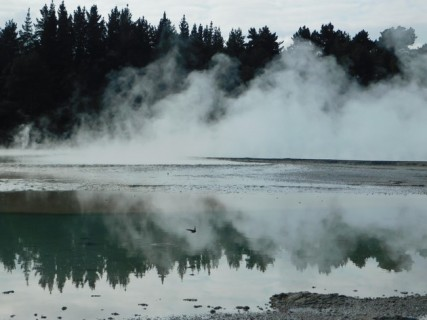 Parc géothermal Wai-O-Tapu - Boucle rouge