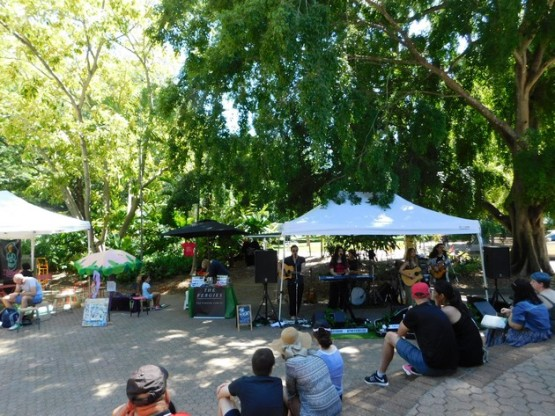 Brisbane - Jardin Botanique, ambiance musicale de bon matin !