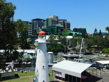 Brisbane - Non loin du Jardin Botanique, de l'autre côté de la passerelle