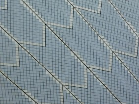 Sydney - Opéra, détail du revêtement en céramique