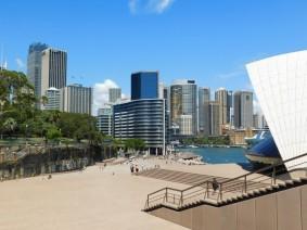 Sydney - Vue depuis l'Opéra sur Circular Quay