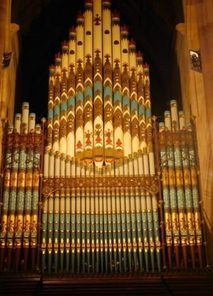 Sydney - Quartier Town Hall - Cathédrale Saint Andrew - Orgue peint