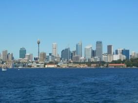 Sydney - La skyline depuis le ferry pour Manly