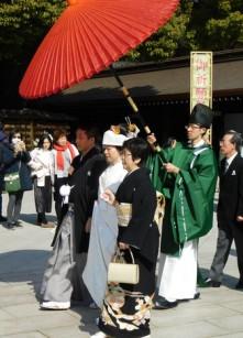 Tokyo - Harajaku - Temple Meiji-jingu - Cérémonie de mariage
