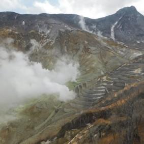 Hakone - Carrière de souffre à Owakudani