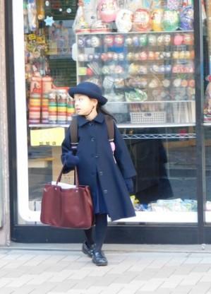 Tokyo - Quartier Roppongi, sortie d'école - L'uniforme est encore de rigueur dans bon nombre d'établissements...