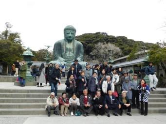 Kamakura - Hase, Daibutsu - Groupe de Japonais en visite !
