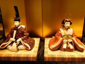 Nagoya - Noritake Garden, usine de porcelaine - Musée, couple impérial