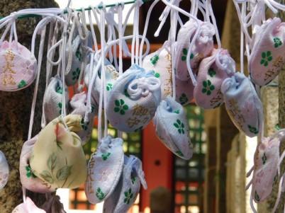Osaka - Temple Sumiyoshi-Taisha - Amulettes