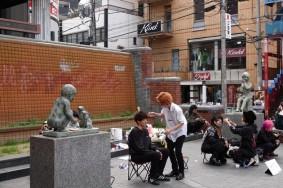 Osaka - America-mura - Coiffeurs de rue !