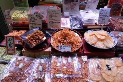 Kyoto - Marché couvert de Nishiki - Produits de la mer
